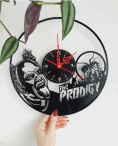 Laser Cut The Prodigy Vinyl Record Wall Clock Free Vector File