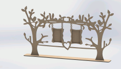 Laser Cut Tree Frame Free DXF File