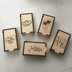 Laser Cut Valentines Day Gift Boxes 3mm Free Vector File