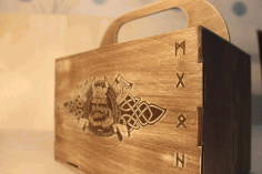 Laser Cut Viking Box Beer Gift Box Beer Caddy Free Vector File