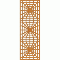 Laser Cut Wall Partition Design Free DXF File