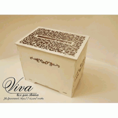 Laser Cut Wedding Favor Box Free Vector File