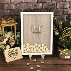 Laser Cut Wedding Guest Book Box With Hearts Free Vector File