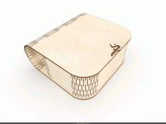 Laser Cut Wood Box Purse Free Vector File