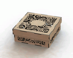 Laser Cut Wood Box Template Free DXF File