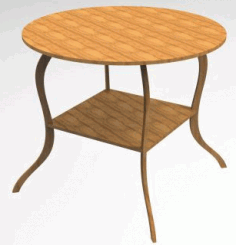 Laser Cut Wooden Stool Free DXF File