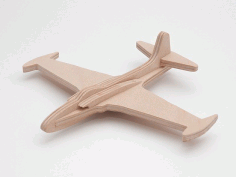 Lockheed p-80 6mm Cnc Laser Cut Model Free DXF File