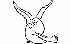 Love Bird Free DXF File