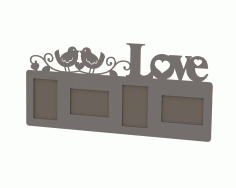 Love Frame Laser Cut Free DXF File