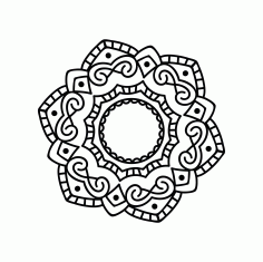 Mandala Design Ornament Free DXF File