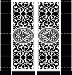Mandala Motifs Door Download Free DXF File