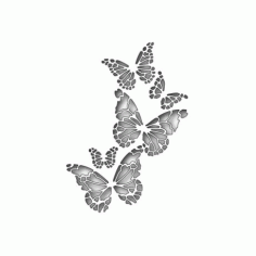 Memory Box Butterfly Free DXF File