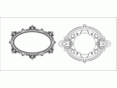 Mirror Frame Ayna Free DXF File