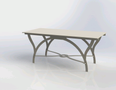 Modern Table Free DXF File