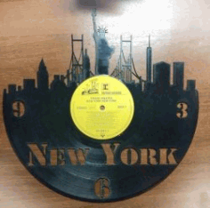 New York Clock For Laser Cut Plasma Free DXF File