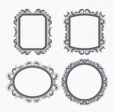 Ornate Frame Vectors Free DXF File