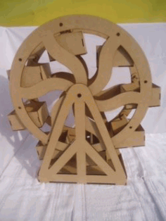 Pastry Shelf Shaped Like A Ferris Wheel For Cnc Laser Cutting Free DXF File