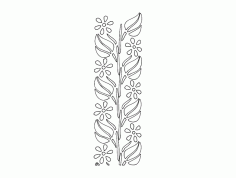 Pattern Floral Free DXF File