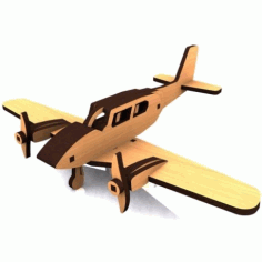 Piper Cherokee Aircraft Model Free DXF File