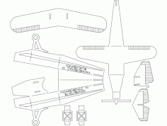 Plane Puzzle 0p5mm Free DXF File