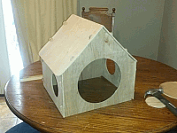 Plywood Playhouse Dog House Laser Cut Free DXF File