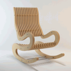 Rocking Chair Plywood 15 Mm Free DXF File