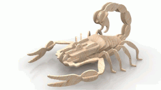 Scorpion Wood Insect 3d Puzzle 6mm Free DXF File