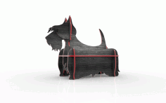Scottish Terrier Mini Shelf Free DXF File