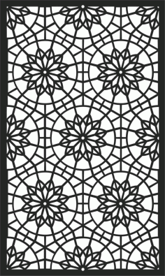 Screen Panel Patterns Seamless 15 Free DXF File