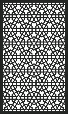 Screen Panel Patterns Seamless 36 Free DXF File