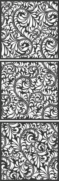 Screen Panel Patterns Seamless 4 Free DXF File