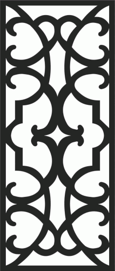 Screen Panel Patterns Seamless 49 Free DXF File