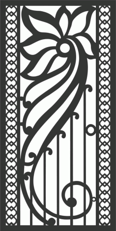 Screen Panel Patterns Seamless 76 Free DXF File