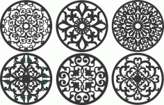 Screen Panel Patterns Seamless 95 Free DXF File