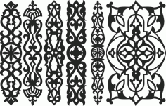 Screen Panel Patterns Seamless 97 Free DXF File