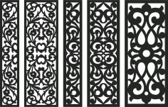 Screen Panel Patterns Seamless 98 Free DXF File