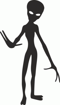 Silhouette Aliens Monster Creature Free DXF File