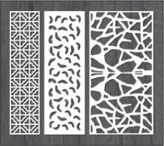 Simple Stone Wall Partition Design For Laser Cut Cnc Free DXF File