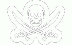 Skull Swords Free DXF File
