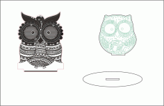 Sleepy Eyed Owl Night Light Template Free Vector File