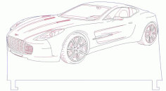 Sport Car Led Illusion Free Vector File
