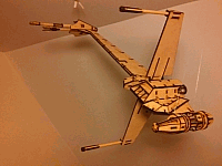 Star Wars b-wing Laser Cut Design Template Free DXF File