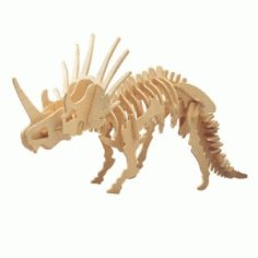 Styracosaurus 3d Puzzle Free DXF File
