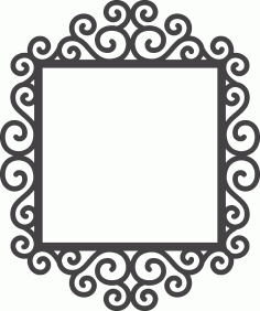 Swirly Frame Free DXF File