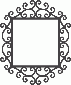 Swirly Mirror Frame Free DXF File