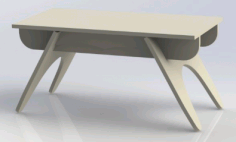 Table Piece 3 Free DXF File