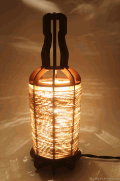 Tabletop Night Light Lantern Plywood Laser Cut 3mm Free DXF File