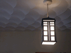 Tardis Lamp Laser Cut Free Vector File
