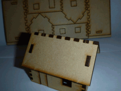 Tiny Laser Cut House Free DXF File