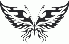Tribal Butterfly Art 11 Free DXF File